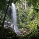 At Kooi Waterfall in Belum