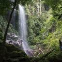 At Kooi Waterfall in Belum