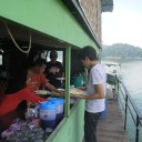 Belum houseboat lunch time