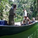 Fishing in emerald green waters