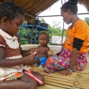 Orang asli children at play