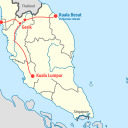 Map of Transportation Hubs to Belum Temenggor