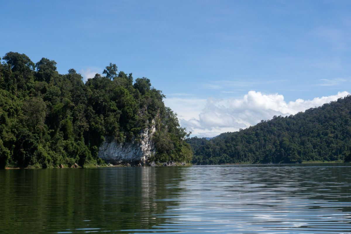Rocks emerging from Temenggor lake